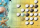 Play Beach Reversi strategy Flash game