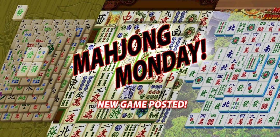 Mahjong Monday! New game added